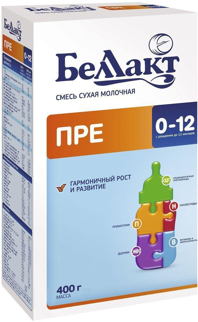 Беллакт Пре смесь молочная сухая с рождения, 400 г2581Смесь для смешанного или искусственного вскармливания недоношенных и маловесных детей с рождения до достижения ими массы 3-3,5 кг.