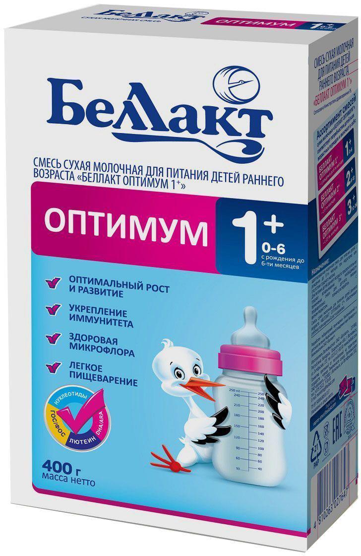 Беллакт Оптимум-1+ смесь молочная сухая с рождения, 400 г2764Смесь для питания детей с рождения до 6 месяцев при недостатке или отсутствии женского молока.
