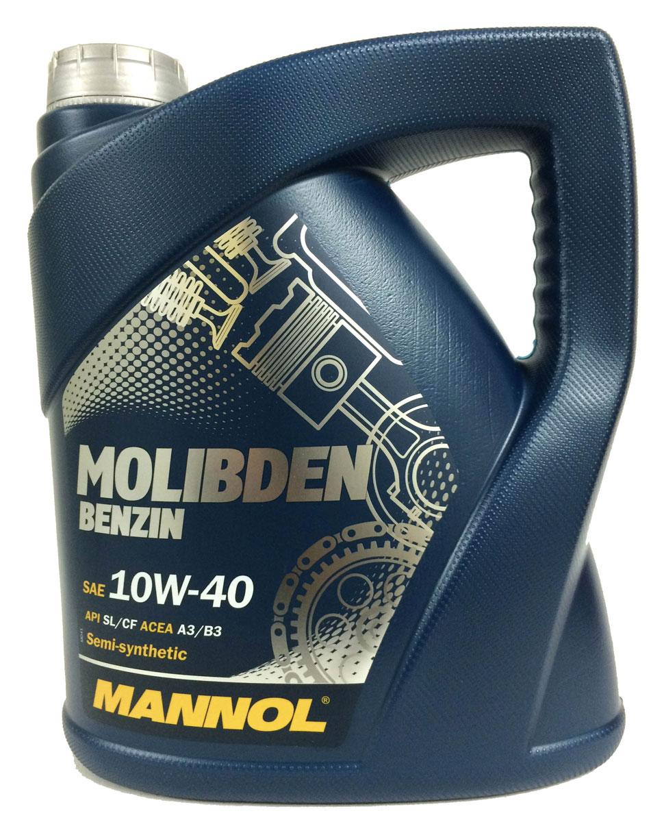 Моторное масло MANNOL Molibden Benzin, 10W-40, полусинтетическое, 1 лS03301004Mannol Molibden Benzin 10W40 - универсальное всесезонное полусинтетическое моторное масло, предназначенное для новых поколений всех типов двигателей. Эффективно снижает износ на всех режимах работы двигателя за счет формирования на сопряженных поверхностях трения уникальной защитной пленки, выдерживающей экстремальные нагрузки. Исключает задир. Обладает оптимальными низкотемпературными характеристиками. Отличается стабильной вязкостью в течение всего срока эксплуатации. Предотвращает угар масла. Продукт имеет допуски / соответствует спецификациям / продуктам:SAE 10W-40API SL/CFACEA A3/B3