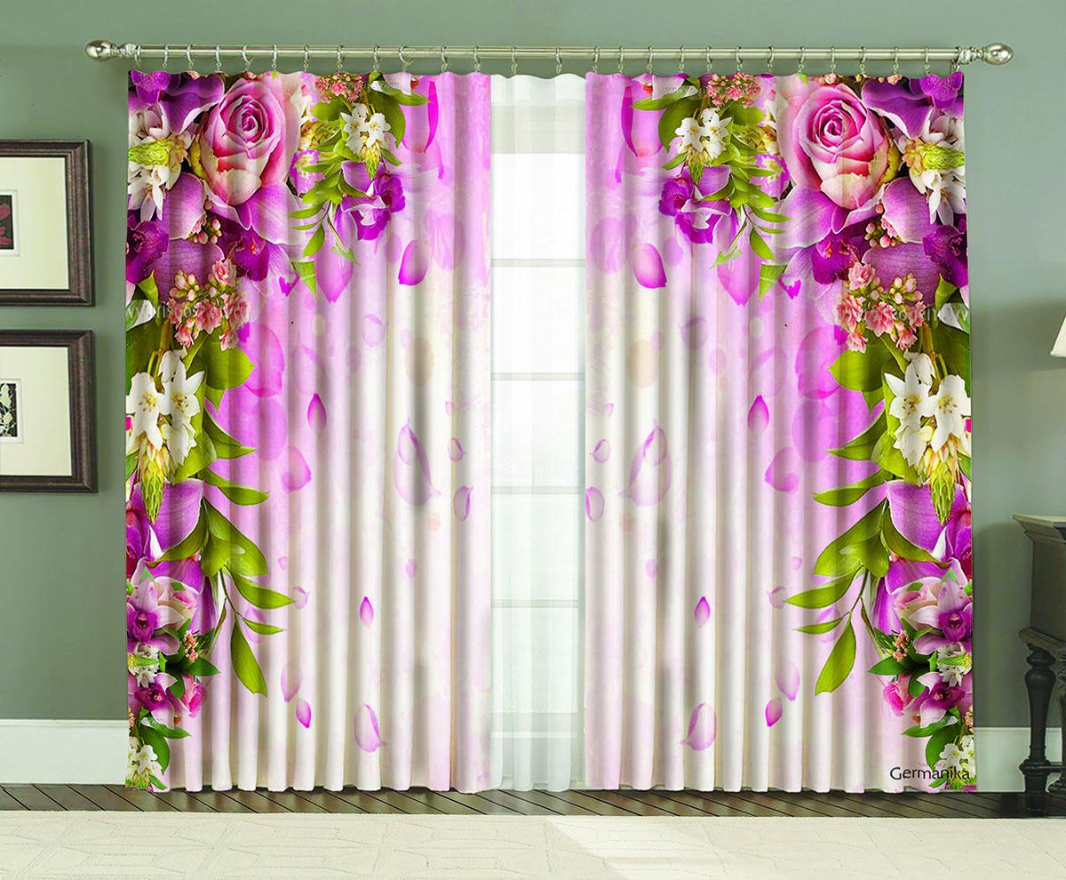 Комплект штор МарТекс Роза Германика, 150 х 270 см16-0115-1Комплект штор МарТекс, выполненный из качественного полиэстера, великолепно украсит любое окно. Комплект состоит из двух штор. Ткань с печатным оригинальным рисунком привлечет к себе внимание и органично впишется в интерьер помещения. Этот комплект будет долгое время радовать вас и вашу семью!В комплекте: 2 шторы.