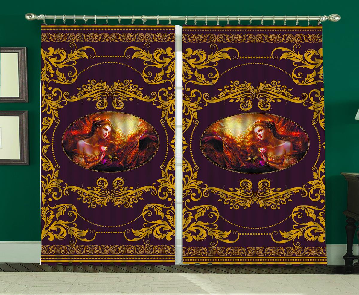 Комплект штор МарТекс Византия, 150 х 270 смVCA-00Комплект штор МарТекс, выполненный из качественного полиэстера, великолепно украсит любое окно. Комплект состоит из двух штор. Ткань с печатным оригинальным рисунком привлечет к себе внимание и органично впишется в интерьер помещения. Этот комплект будет долгое время радовать вас и вашу семью!В комплекте: 2 шторы.