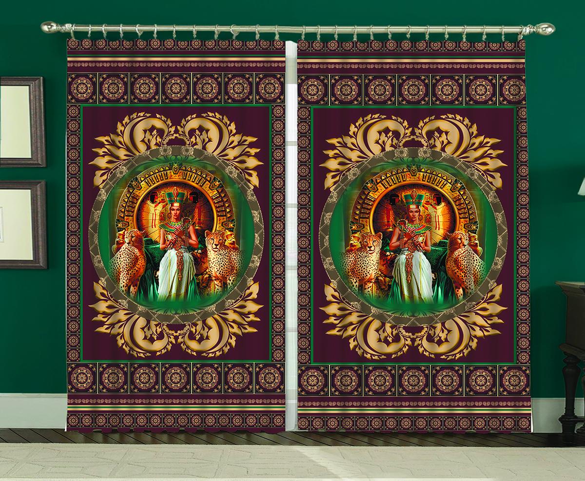 Комплект штор МарТекс Египет, 150 х 270 смVT-1840-BKКомплект штор МарТекс, выполненный из качественного полиэстера, великолепно украсит любое окно. Комплект состоит из двух штор. Ткань с печатным оригинальным рисунком привлечет к себе внимание и органично впишется в интерьер помещения. Этот комплект будет долгое время радовать вас и вашу семью!В комплекте: 2 шторы.