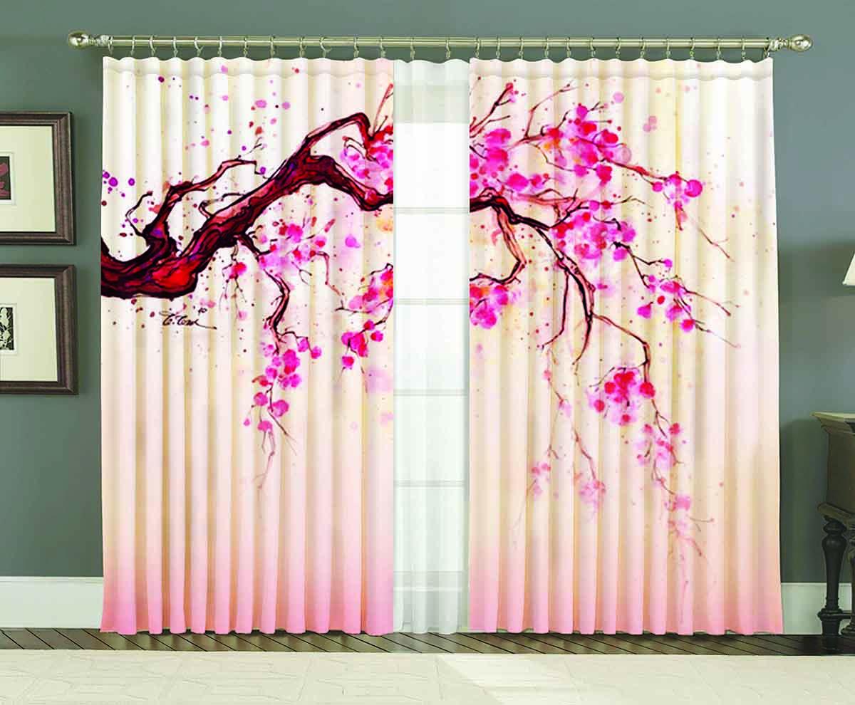 Комплект штор МарТекс Ханами, 150 х 250 смGC020/00Комплект штор МарТекс, выполненный из качественного полиэстера, великолепно украсит любое окно. Комплект состоит из двух штор. Ткань с печатным оригинальным рисунком привлечет к себе внимание и органично впишется в интерьер помещения. Этот комплект будет долгое время радовать вас и вашу семью!В комплекте: 2 шторы размером 150 х 250 см.