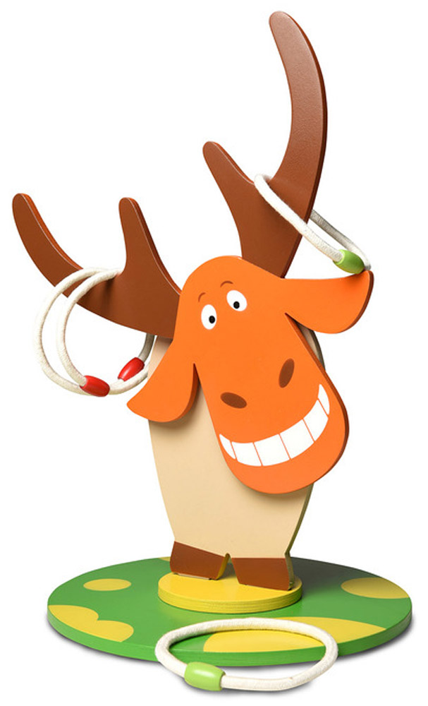 ЯиГрушка Игровой набор Кольцеброс Дикий веселый лось охотничий карабин лось