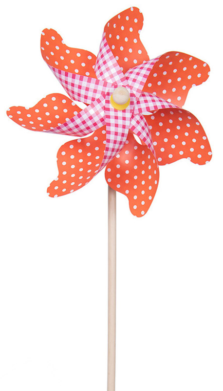 Fresh Trend Вертушка Ветрячок Два узора цвет оранжевый розовый