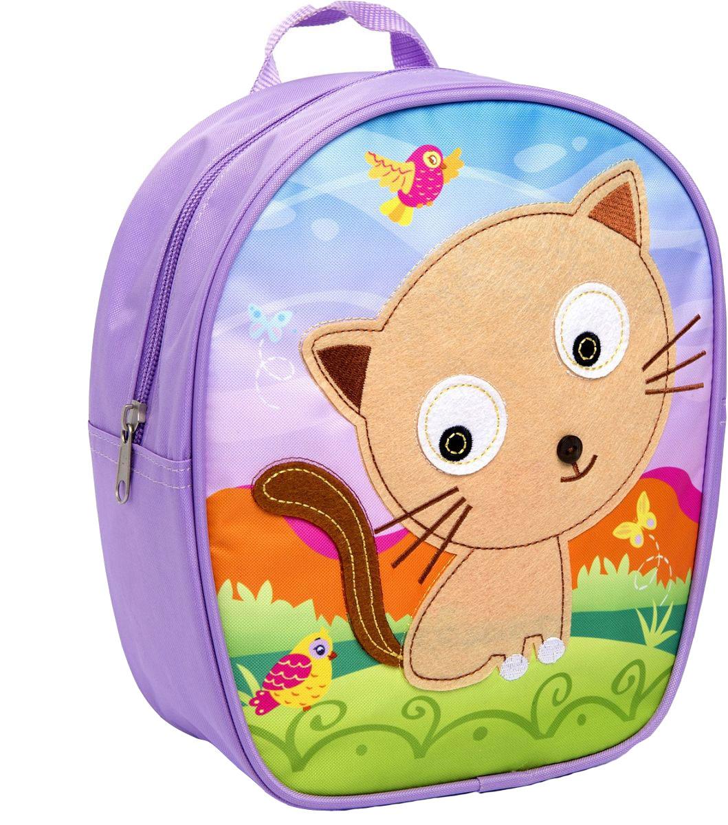 Росмэн Рюкзак дошкольный Кошка5116Дошкольный рюкзак Росмэн Кошка - это удобный, легкий и компактный аксессуар для вашего малыша, который обязательно пригодится для прогулок и детского сада.В его внутреннее отделение на застежке-молнии можно положить игрушки, предметы для творчества или книжку формата А5.Благодаря регулируемым лямкам, рюкзачок подходит детям любого роста. Удобная ручка помогает носить аксессуар в руке или размещать на вешалке.Износостойкий материал с водонепроницаемой основой и подкладка обеспечивают изделию длительный срок службы и помогают содержать вещи сухими в сырую погоду.Аксессуар декорирован ярким принтом (сублимированной печатью), устойчивым к истиранию и выгоранию на солнце, аппликацией из фетра, вышивкой и пуговкой.