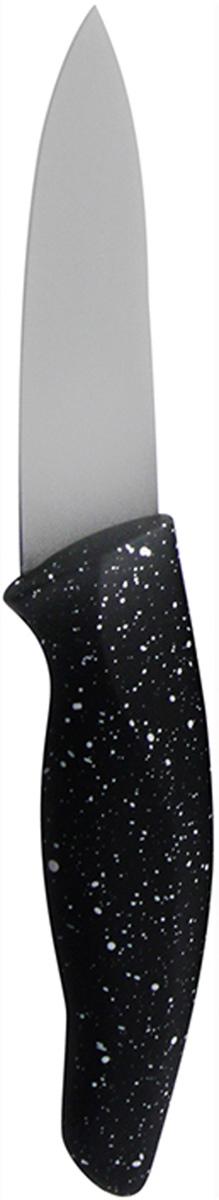 Нож для чистки овощей Marta Paring, длина лезвия 8,5 см. MT-2870FS-91909Нож для чистки овощей Marta Paring с лезвием из пищевой нержавеющей стали 1,5 мм и керамическим покрытием станет незаменимым помощником на вашей кухне.Такой нож имеет самый длительный срок службы, отлично сохраняет эксплуатационные свойства и внешний вид. Высококачественная пищевая нержавеющая сталь не имеет запаха и сохраняет вкус и аромат продуктов натуральными, а экологически чистое антибактериальное гипоаллергенное керамическое покрытие устойчиво к коррозии, износу и обеспечивает длительное сохранение качества режущей кромки ножа без необходимости его дополнительной заточки.Нож имеет гладкое острозаточенное лезвие, а также стильное исполнение пластиковой ручки удобной формы, обеспечивающей плотный контакт с ладонью, со специальным покрытием, предотвращающим скольжение в руке.Качественный нож Marta Paring - это подлинное украшение кухни и уверенность в успехе любого блюда.Можно мыть в посудомоечной машине. Общая длина ножа: 19 см.