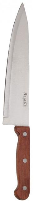 Нож-шеф разделочный Rustico, длина лезвия 20,5 см9/903Нож-шеф разделочный Linea Rustico изготовлен из высококачественной нержавеющей стали. Оригинальная и практичная рукоятка выполнена из красного дерева. Рукоятка не скользит в руках и делает резку удобной и безопасной. Этот нож идеально шинкует, нарезает и измельчает продукты и займет достойное место среди аксессуаров на вашей кухне. Не рекомендуется мыть в посудомоечной машине, после мытья нож необходимо вытереть насухо мягкой тканью.Разделочный нож Linea Rustico это:острое лезвие ножа с ровной поверхностью и выверенным углом заточки,специальная закалка металла для повышения прочности,минимальные усилия при резке,нож не впитывает запахи и не оставляет запаха на продуктах,экологически чистые материалы изготовления,легкость и простота в эксплуатации и уходе. Характеристики: Материал: нержавеющая сталь, дерево. Длина ножа: 32 см. Длина лезвия: 20,5 см. Размер упаковки: 35,5 см х 7 см х 2 см. Производитель:Италия. Артикул: 93-WH3-1.