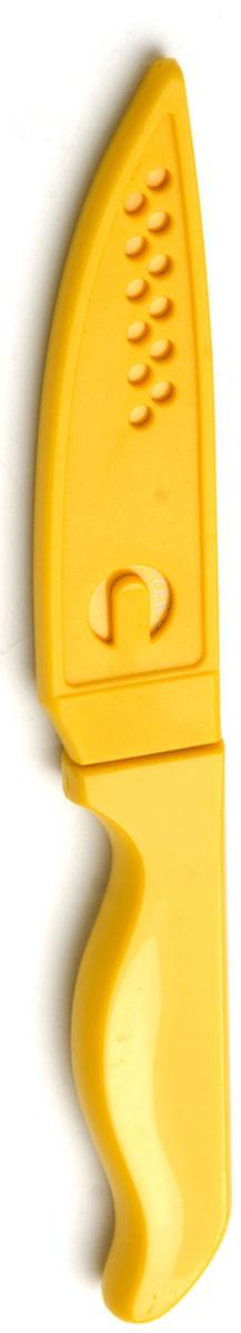 Нож Mayer & Boch, с чехлом, 10 см6.8523.17BНож с лезвием из высококачественной нержавеющей стали станет незаменимым помощником на Вашей кухне. Лезвие имеет специальное Non-Stick покрытие, предотвращающее прилипание продуктов к лезвию ножа. Поверхность клинка легко моется, не впитывает и не «передает» запахи пищи при нарезке различных продуктов. Благодаря своей форме и компактному размеру, нож идеально подходит для очистки овощей и фруктов. Эргономичная рукоятка ножа удобно ложится в ладонь, обеспечивая безопасную работу, комфортное положение в руке, надежный захват и не дает ножу скользить при использовании. Нож имеет полипропиленовый чехол, обеспечивающий безопасность при хранении.Длина ножа: 19,8 см.Длина лезвия: 10 см.