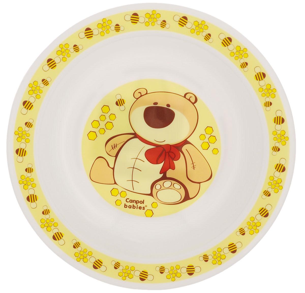 Canpol Babies Тарелка для кормления Мишка115510Детская глубокая тарелка Canpol Babies Мишка идеально подойдет для кормления малыша и самостоятельного приема им пищи.Тарелочка выполнена из высококачественного полипропилена, дно оформлено изображением забавного мишки.