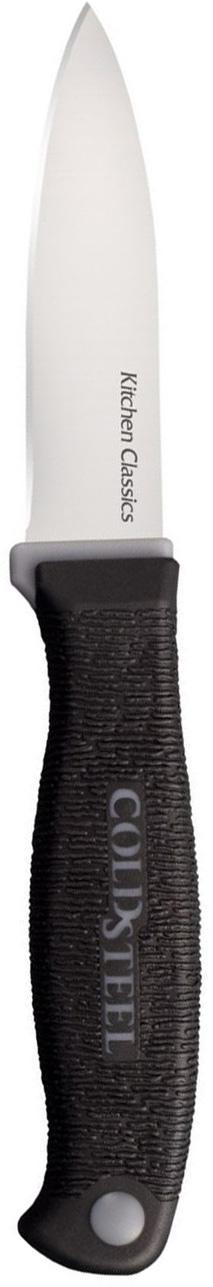 Нож кухонный Cold Steel Paring Knife, длина лезвия 5,8 см67742Кухонный нож Cold Steel Paring Knife - незаменимый помощник на вашей кухне. Лезвие, изготовленное из стали, более стойкое к воздействию кислот, содержащихся в продуктах, более гигиенично и не подвержено коррозии. Кроме того, лезвие из стали сохраняет остроту дольше, чем другие ножи.Легкая, отлично сбалансированная и приятная на ощупь рукоятка, изготовлена из качественного пластика. Модель удобна в использовании. Общая длина ножа: 17,7 см.Толщина лезвия: 1,5 см.