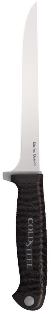 Нож кухонный Cold Steel Boning Knife, длина лезвия 15,2 смCS/59KSBNZКухонный нож Cold Steel Boning Knife - незаменимый помощник на вашей кухне. Лезвие, изготовленное из стали, более стойкое к воздействию кислот, содержащихся в продуктах, более гигиенично и не подвержено коррозии. Кроме того, лезвие из стали сохраняет остроту дольше, чем другие ножи.Легкая, отлично сбалансированная и приятная на ощупь рукоятка, изготовлена из качественного пластика. Модель удобна в использовании. Общая длина ножа: 27,6 см.Толщина обуха: 2 мм.