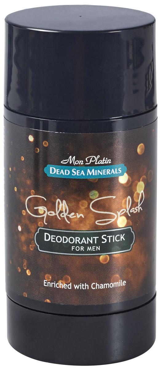 Mon Platin дезодорант для мужчин Dead Sea Minerals Golden Splash, 80 мл800032774Дезодорант для мужчин действует длительное время, предотвращает выделение пота, придает коже ощущение бодрости и свежести, обладает нежным и приятным запахом, не оставляет пятен, удобен в использовании.