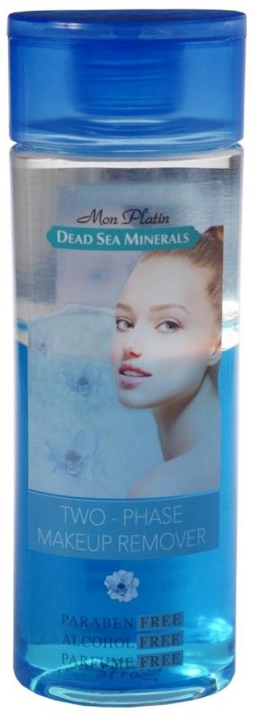 Mon Platin двухфазное средство для снятия макияжа Dead Sea Minerals, 200 млFS-00897Двухфазное средство для снятия макияжа 200 мл. Первая фаза содержит мягкие компоненты, растворяющиеся сразу после нанесения средства на кожу лица, и с легкостью удаляют остатки макияжа. Вторая фаза основана на воде, обогащенной минеральными и увлажняющими веществами, а также витамином В5, Е и смягчающими веществами, которые завершают процесс очищения, оставляя на коже легкий приятный запах. Подходит для очищения чувствительной кожи вокруг глаз, шеи и губ. Снимает даже водостойкий макияж быстро и без сильно трения кожи. Не содержит спирт, парабены и отдушки.