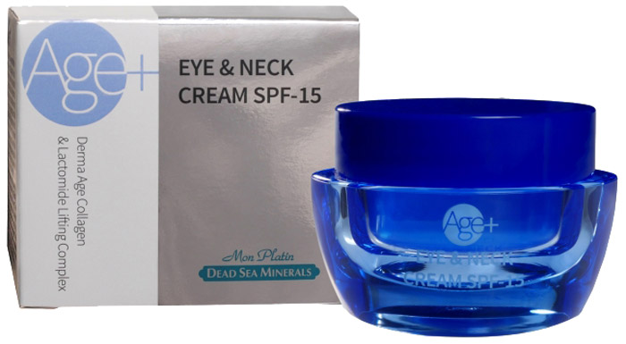 Mon Platin крем для кожи вокруг глаз и шеи SPF15 Dead Sea Minerals, 50 млDSM281Инновационный крем SPF 15 для ухода за тонкой и нежной кожей вокруг глаз и в области шеи, эффективно защищающий от воздействия вредных излучений. Крем содержит гиалуроновую кислоту с добавлением коллагена, а также оливковое масло, масло авокадо, и экстракты зеленого чая, ромашки и алоэ вера, которые быстро впитываются в нежную кожу вокруг глаз, снимая признаки усталости. Нежный крем эффективно впитывается в эпидермис, способствует стимулированию и укреплению природных коллагеновых клеток кожи лица и, таким образом, сохраняет природную эластичность кожи и предотвращает появление новых мимических морщин. Кроме того, крем содержит подтягивающий комплекс Lactomide, являющийся уникальным за счет структуры липосом, которые проникают в глубокие слои кожи, улучшая, таким образом, процесс впитывания, и усиливая положительный эффект воздействия активных ингредиентов. Основными активными ингредиентами являются керамиды-3 в сочетании с натуральными фосфолипидами, которые обеспечивают усиленное увлажнение кожи, сокращают возможность появления маленьких морщинок и помогают предотвратить образование новых морщин. Крем способствует поддержанию тонуса кожи, обновлению структуры и восстановлению упругости.Результат: постоянное применение крема в течение 60 дней обеспечит значительное сокращение признаков усталости и мимических морщин вокруг глаз. Нежная кожа вокруг глаз насыщается активными ингредиентами уникального подтягивающего комплекса и сохраняет эластичность и свежесть в течение длительного времени.