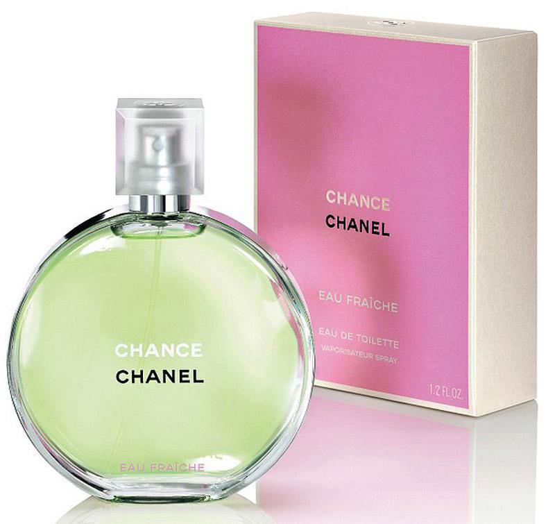 Chanel Chance Eau Fraiche туалетная вода женская, 35 мл25779Chance Eau Fraiche Chanel - это аромат для женщин, принадлежит к группе ароматов шипровые цветочные. Chance Eau Fraiche выпущен в 2007. Парфюмер: Jacques Polge. Верхние ноты: Лимон и Белый кедр; ноты сердца: Розовый перец, Водяной гиацинт и Жасмин; ноты базы: Тиковое дерево, Ирис, Амбра, Пачули, Ветивер и Белый мускус