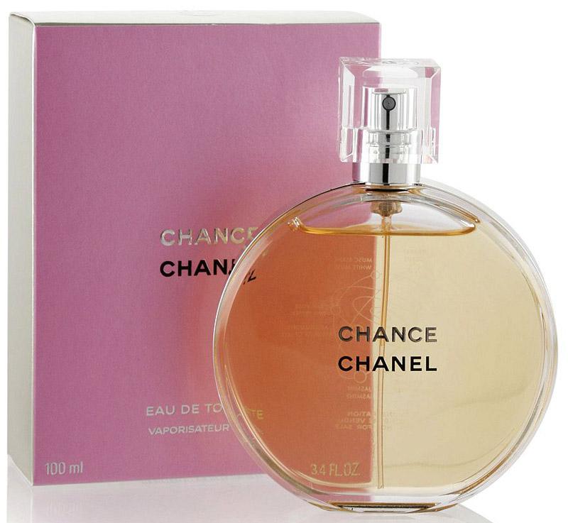 Chanel Chance туалетная вода женская, 100 мл14520это аромат для женщин, принадлежит к группе ароматов шипровые цветочные. Chance Eau de Toilette выпущен в 2003. Парфюмер: Jacques Polge. Верхние ноты: Ананас, Ирис, Пачули, Розовый перец и Гиацинт; ноты сердца: Жасмин и Лимон; ноты базы: Мускус, Пачули, Ваниль и Ветивер.