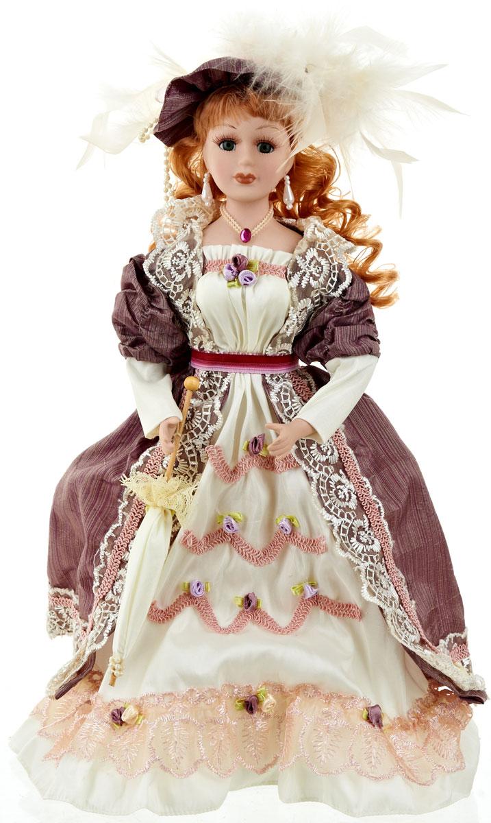 Кукла коллекционная ArtHouse Анастасия, высота 36,5 см54 009312Великолепная кукла Анастасия, выполненная из фарфора, займет достойное место в вашей коллекции. Кукла максимально приближена к живому прототипу - юной леди с румянцем на щеках.Туловище куклы мягконабивное. Наряжена кукла в шикарное платье, выполненное из атласа, кружева и органзы.Для более удобного расположения куклы в интерьере прилагается удобная подставка.