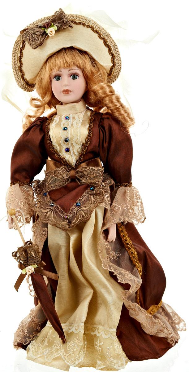 Кукла коллекционная ArtHouse Елизавета, высота 36,5 см108.3201.02Великолепная кукла Елизавета, выполненная из фарфора, займет достойное место в вашей коллекции. Кукла максимально приближена к живому прототипу - юной леди с румянцем на щеках.Туловище куклы мягконабивное. Наряжена кукла в шикарное платье, выполненное из атласа, кружева и органзы.Для более удобного расположения куклы в интерьере прилагается удобная подставка.