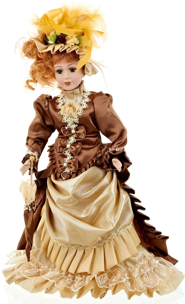 Кукла коллекционная ArtHouse Софья, высота 36,5 см54 009312Великолепная кукла Софья, выполненная из фарфора, займет достойное место в вашей коллекции. Кукла максимально приближена к живому прототипу - юной леди с румянцем на щеках.Туловище куклы мягконабивное. Наряжена кукла в шикарное платье, выполненное из атласа, кружева и органзы.Для более удобного расположения куклы в интерьере прилагается удобная подставка.