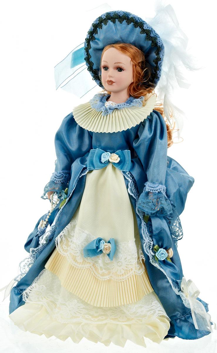Кукла коллекционная ArtHouse Валентина, высота 36,5 см74-0120Великолепная кукла Валентина, выполненная из фарфора, займет достойное место в вашей коллекции. Кукла максимально приближена к живому прототипу - юной леди с румянцем на щеках.Туловище куклы мягконабивное. Наряжена кукла в шикарное платье, выполненное из атласа, кружева и органзы.Для более удобного расположения куклы в интерьере прилагается удобная подставка.