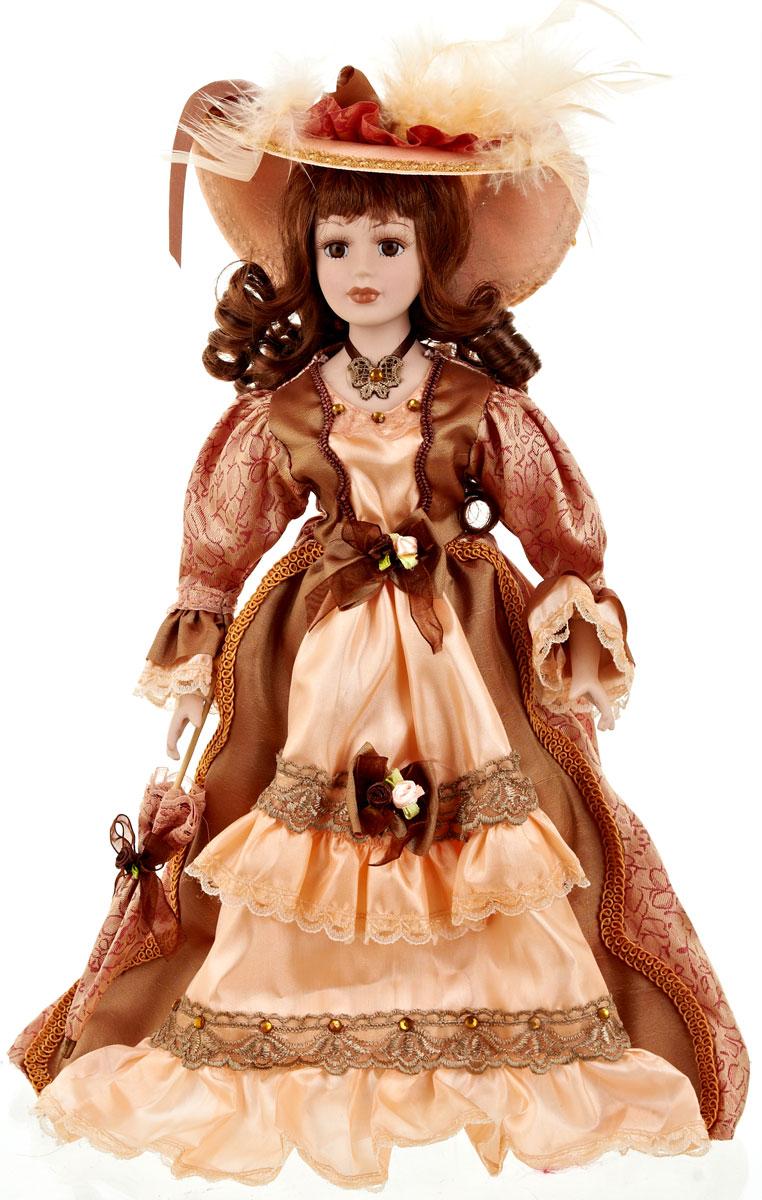 Кукла коллекционная ArtHouse Светлана, высота 36,5 см114079Великолепная кукла Светлана, выполненная из фарфора, займет достойное место в вашей коллекции. Кукла максимально приближена к живому прототипу - юной леди с румянцем на щеках.Туловище куклы мягконабивное. Наряжена кукла в шикарное платье, выполненное из атласа, кружева и органзы.Для более удобного расположения куклы в интерьере прилагается удобная подставка.