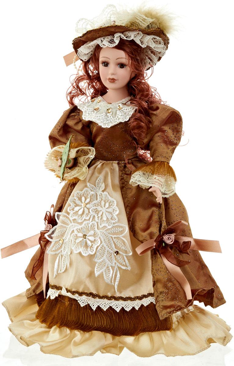 Кукла коллекционная ArtHouse Антонина, высота 36,5 см44432Великолепная кукла Антонина, выполненная из фарфора, займет достойное место в вашей коллекции. Кукла максимально приближена к живому прототипу - юной леди с румянцем на щеках.Туловище куклы мягконабивное. Наряжена кукла в шикарное платье, выполненное из атласа, кружева и органзы.Для более удобного расположения куклы в интерьере прилагается удобная подставка.