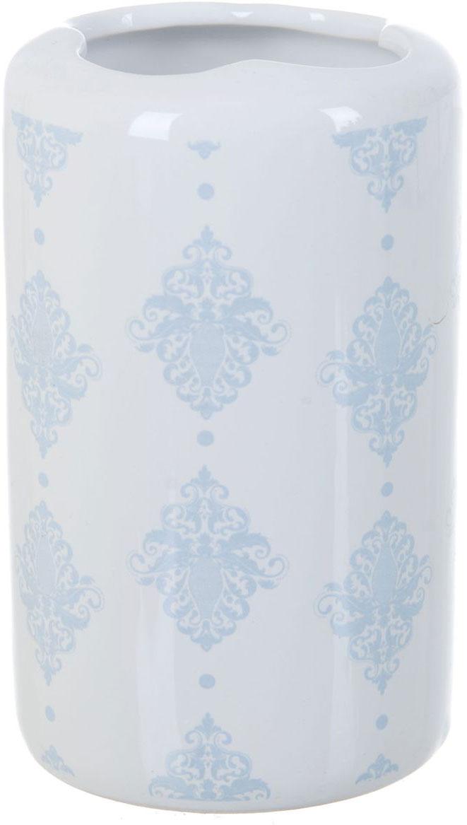 Стакан для зубных щеток ENS Group Орнамент, 300 мл68/2/2Стакан для зубных щеток ENS Group Орнамент изготовлен из натуральной и элегантной керамики белого цвета со светло-голубыми узорами. Изделие прекрасно дополнит интерьер вашей ванной комнаты и создаст особую атмосферу уюта и комфорта.