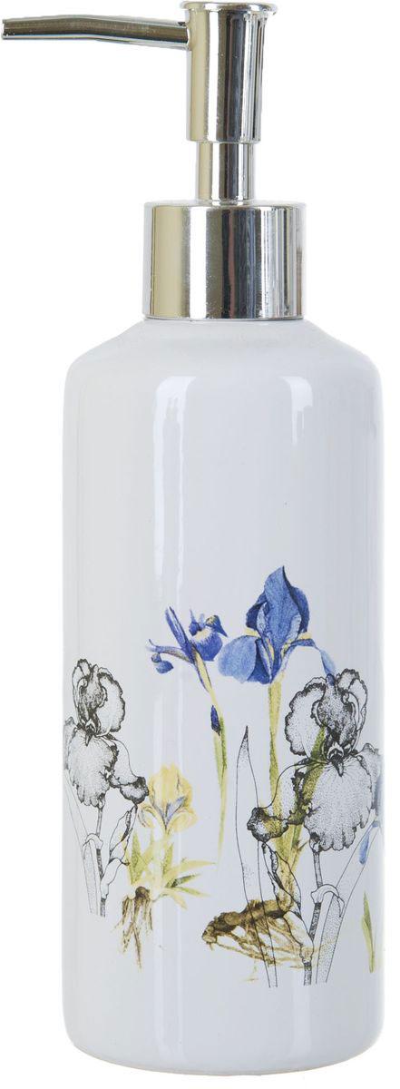 Диспенсер для жидкого мыла ENS Group Ирисы, 300 мл12723Диспенсер для жидкого мыла ENS GROUP Ирисы имеет емкость из прочной глазурованной керамики. Металлический дозатор позволяет легко выдавливать нужное количество жидкого мыла. Изделие красиво дополнит интерьер ванной комнаты и создаст особую атмосферу уюта и комфорта.