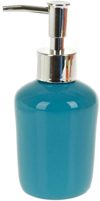 Диспенсер для жидкого мыла White Clean Blue, 200 мл41619Диспенсер для жидкого мыла White CLEAN Blue имеет емкость из прочной глазурованной керамики. Металлический дозатор позволяет легко выдавливать нужное количество жидкого мыла. Изделие красиво дополнит интерьер ванной комнаты и создаст особую атмосферу уюта и комфорта.