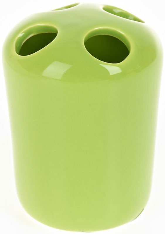 Стакан для зубных щеток White Clean Green, 250 мл74-0120Стакан для зубных щеток White CLEAN Green изготовлен из прочной качественной керамики светло-зеленого цвета, покрытой глянцевой глазурью. Оснащен отверстиями для зубных щеток. Такой стакан красиво дополнит интерьер ванной комнаты и отлично сочетается с другими аксессуарами из коллекции Green.