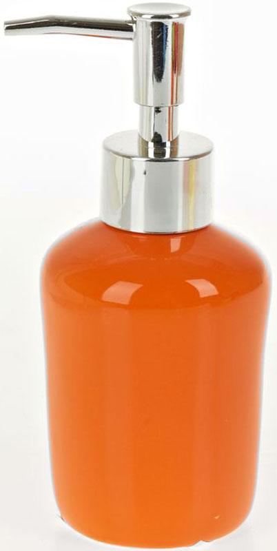 Диспенсер для жидкого мыла White Clean Orange, 200 мл8290034Диспенсер для жидкого мыла White CLEAN Orange имеет емкость из прочной глазурованной керамики. Металлический дозатор позволяет легко выдавливать нужное количество жидкого мыла. Изделие красиво дополнит интерьер ванной комнаты и создаст особую атмосферу уюта и комфорта.Объем: 200 мл.