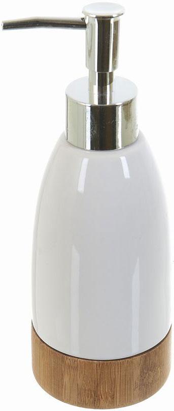 Диспенсер для жидкого мыла White Clean Nature, 300 мл68/5/2Диспенсер для жидкого мыла White CLEAN Nature имеет емкость из прочной глазурованной керамики. Металлический дозатор позволяет легко выдавливать нужное количество жидкого мыла. Изделие красиво дополнит интерьер ванной комнаты и создаст особую атмосферу уюта и комфорта.