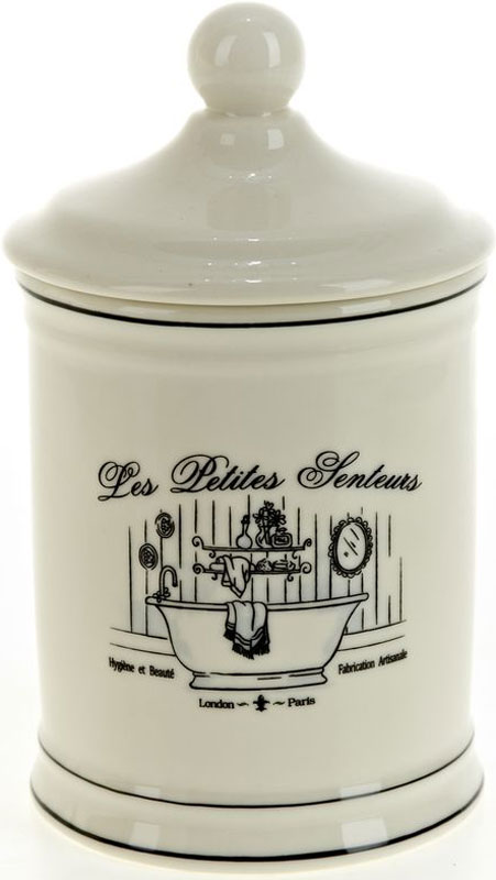 Стакан для гигиенических принадлежностей White Clean Винтаж, с крышкой, 600 мл white clean шторка для ванной