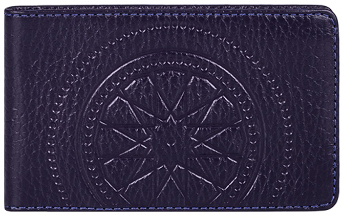 Визитница женская Fabula Talisman, цвет: фиолетовый. V.72.SNDS2016-004-26Визитница из коллекции «Talisman» выполнен из натуральной кожи. На внутреннем развороте 2 кармана из прозрачного пластика, внутренний блок из прозрачного пластика на 20 кредитных/ 40 визитных карт.