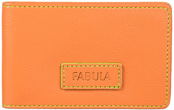 Визитница женская Fabula Ultra, цвет: оранжевый. V.90.FPINT-06501Визитница Fabula выполнена из натуральной кожи. На внутреннем развороте 2 кармана из прозрачного пластика. Внутри расположен блок из прозрачного пластика на 40 визитных и 20 кредитных карт.