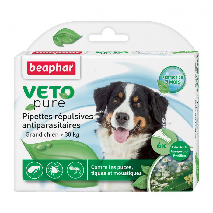 Капли от блох и клещей Beaphar, для собак крупных пород, 6 х 2 мл36057Капли Beaphar - это капли с натуральными маслами для собак крупных пород (свыше 30 кг) с 12 недельного возраста. Отпугивают блох, клещей и комаров. Одна дозировка защищает животное от паразитов в течении 1 месяца. В упаковке 6 пипеток по 2 мл. Способ применения: отломать верх пипетки и нанести содержимое 2-х пипеток на холку. Повторить через 4 недели. Осторожно использовать капли на животных с белой шерстью, так как шерсть может слегка окраситься в месте нанесения препарата. Не использовать на больных и выздоравливающих животных. Избегать попадания в глаза, нос животного. Состав: экстракт маргозы 50 г/л., экстракт пиретрума 20 г/л. Товар сертифицирован.