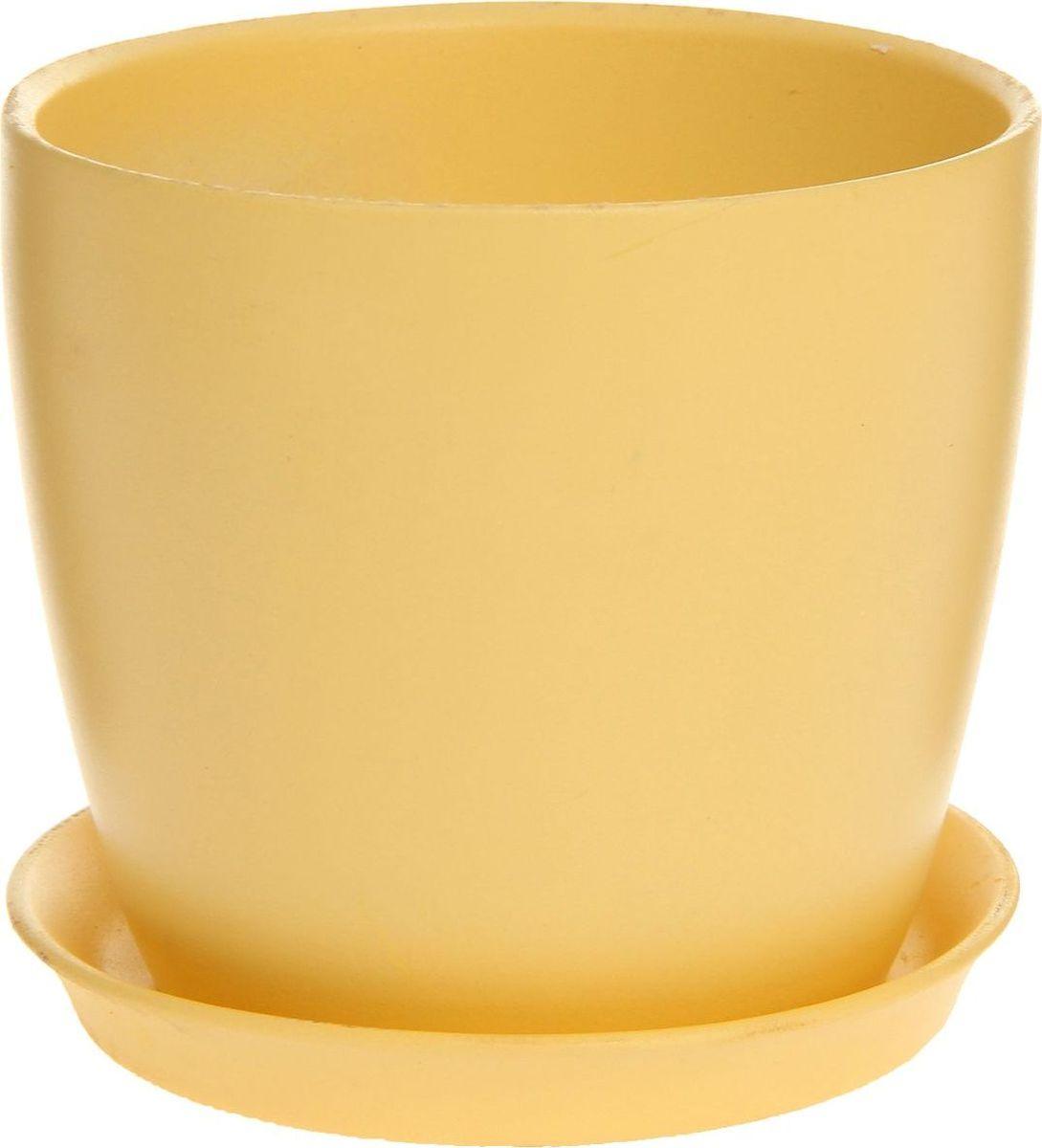 Кашпо Керамика ручной работы Осень. Глянец, цвет: желтый, 2 л43892Комнатные растения — всеобщие любимцы. Они радуют глаз, насыщают помещение кислородом и украшают пространство. Каждому из них необходим свой удобный и красивый дом. Кашпо из керамики прекрасно подходят для высадки растений: за счёт пластичности глины и разных способов обработки существует великое множество форм и дизайновпористый материал позволяет испаряться лишней влагевоздух, необходимый для дыхания корней, проникает сквозь керамические стенки! #name# позаботится о зелёном питомце, освежит интерьер и подчеркнёт его стиль.