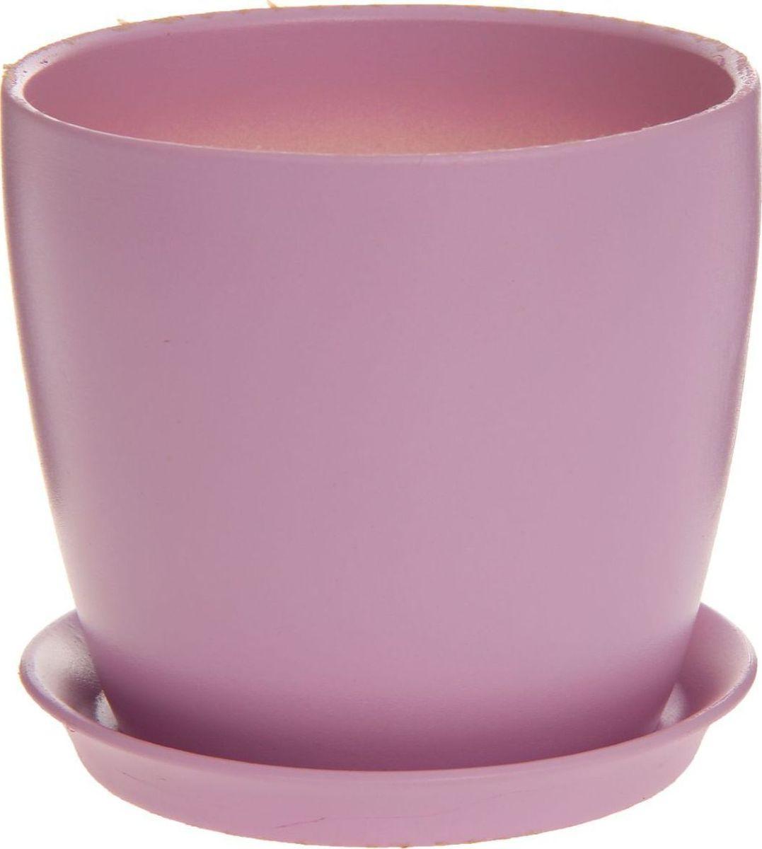 Кашпо Керамика ручной работы Осень. Глянец, цвет: фиолетовый, 2 л1170308