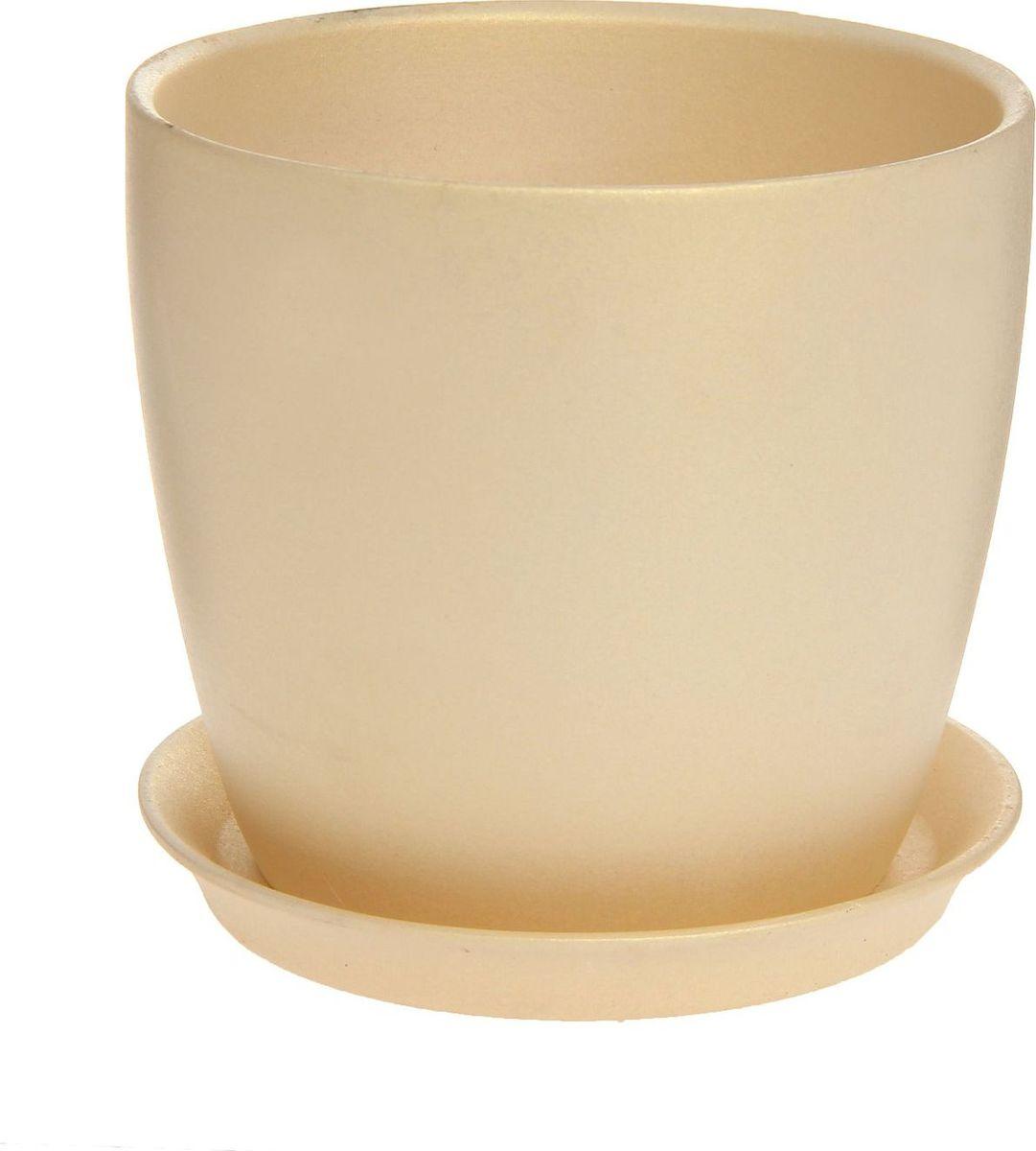 Кашпо Керамика ручной работы Осень. Перламутр, цвет: перламутровый, 2 л1170536Комнатные растения - всеобщие любимцы. Они радуют глаз, насыщают помещение кислородом и украшают пространство. Каждому из них необходим свой удобный и красивый дом.Кашпо из керамики прекрасно подходит для высадки растений:за счёт пластичности глины и разных способов обработки существует великое множество форм и дизайнов; пористый материал позволяет испаряться лишней влаге; воздух, необходимый для дыхания корней, проникает сквозь керамические стенки.Кашпо для цветов освежит интерьер и подчеркнёт его стиль.