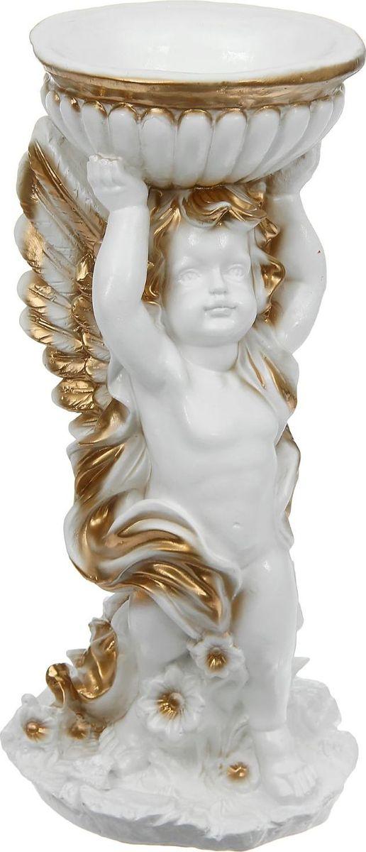 Статуэтка Premium Gips Ангел с чашей в руках, 22 х 24 х 52 см531-401Фигурка ангела изготовлена из натурального материала. Является оберегом, который защищает дом и людей, живущих в нём, от мелких неприятностей и неудач.Если вы хотите проявить заботу о родных или близких, то подарите такую фигурку на свадьбу, день рождения или по любому другому поводу. Сувенир поможет выразить тёплые чувства, ведь он говорит о вашем желании видеть человека под защитой ангела-хранителя, который будет оберегать его от всех недоброжелателей и невзгод.