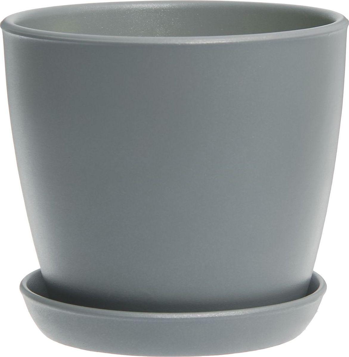 Кашпо Керамика ручной работы Виктория, цвет: серый, 4 л531-401Кашпо серии «Каменный цветок» выполнено из белой глины методом формовки и покрыто лаком. Керамическая ёмкость имеет объём, оптимальный для создания наилучших условий развития большинства растений.Устойчивый глубокий поддон защитит поверхность стола или подставки от жидкости.Благодаря строгим стандартам производства изделия отличаются правильной формой, отсутствием дефектов, имеют достаточную тяжесть для надёжной фиксации конструкции.Окраска моделей не восприимчива к прямым солнечным лучам, а в цветовой гамме преобладают яркие и насыщенные оттенки.Красота, удобство и долговечность кашпо серии «Каменный цветок» порадует любителей высококачественных аксессуаров для комнатных растений.