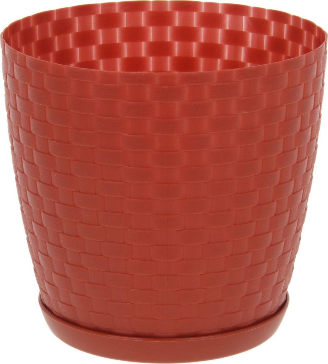 Горшок для цветов Петропласт Ротанг, с поддоном, цвет: терракотовый, 1,2 л531-402Любой, даже самый современный и продуманный интерьер будет не завершённым без растений. Они не только очищают воздух и насыщают его кислородом, но и заметно украшают окружающее пространство. Такому полезному &laquo члену семьи&raquoпросто необходимо красивое и функциональное кашпо, оригинальный горшок или необычная ваза! Мы предлагаем - Горшок для цветов 1,2 л с поддоном Ротанг, цвет терракотовый!Оптимальный выбор материала &mdash &nbsp пластмасса! Почему мы так считаем? Малый вес. С лёгкостью переносите горшки и кашпо с места на место, ставьте их на столики или полки, подвешивайте под потолок, не беспокоясь о нагрузке. Простота ухода. Пластиковые изделия не нуждаются в специальных условиях хранения. Их&nbsp легко чистить &mdashдостаточно просто сполоснуть тёплой водой. Никаких царапин. Пластиковые кашпо не царапают и не загрязняют поверхности, на которых стоят. Пластик дольше хранит влагу, а значит &mdashрастение реже нуждается в поливе. Пластмасса не пропускает воздух &mdashкорневой системе растения не грозят резкие перепады температур. Огромный выбор форм, декора и расцветок &mdashвы без труда подберёте что-то, что идеально впишется в уже существующий интерьер.Соблюдая нехитрые правила ухода, вы можете заметно продлить срок службы горшков, вазонов и кашпо из пластика: всегда учитывайте размер кроны и корневой системы растения (при разрастании большое растение способно повредить маленький горшок)берегите изделие от воздействия прямых солнечных лучей, чтобы кашпо и горшки не выцветалидержите кашпо и горшки из пластика подальше от нагревающихся поверхностей.Создавайте прекрасные цветочные композиции, выращивайте рассаду или необычные растения, а низкие цены позволят вам не ограничивать себя в выборе.