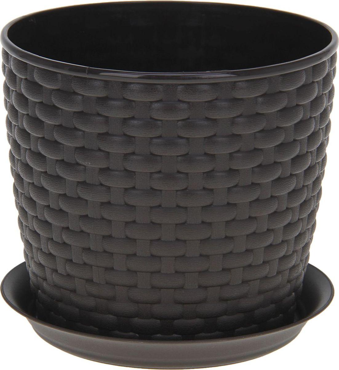 Кашпо Idea Ротанг, с поддоном, цвет: темно-коричневый, 4,7 л531-105Любой, даже самый современный и продуманный интерьер будет не завершённым без растений. Они не только очищают воздух и насыщают его кислородом, но и заметно украшают окружающее пространство. Такому полезному члену семьи просто необходимо красивое и функциональное кашпо, оригинальный горшок или необычная ваза! Мы предлагаем - Кашпо с поддоном 4,7 л Ротанг, цвет коричневый! Оптимальный выбор материала пластмасса! Почему мы так считаем? -Малый вес. С лёгкостью переносите горшки и кашпо с места на место, ставьте их на столики или полки, подвешивайте под потолок, не беспокоясь о нагрузке. -Простота ухода. Пластиковые изделия не нуждаются в специальных условиях хранения. Их легко чистить достаточно просто сполоснуть тёплой водой. -Никаких царапин. Пластиковые кашпо не царапают и не загрязняют поверхности, на которых стоят. -Пластик дольше хранит влагу, а значит растение реже нуждается в поливе. -Пластмасса не пропускает воздух корневой системе растения не грозят резкие перепады температур. -Огромный выбор форм, декора и расцветок вы без труда подберёте что-то, что идеально впишется в уже существующий интерьер. Соблюдая нехитрые правила ухода, вы можете заметно продлить срок службы горшков, вазонов и кашпо из пластика: -всегда учитывайте размер кроны и корневой системы растения (при разрастании большое растение способно повредить маленький горшок)-берегите изделие от воздействия прямых солнечных лучей, чтобы кашпо и горшки не выцветали-держите кашпо и горшки из пластика подальше от нагревающихся поверхностей. Создавайте прекрасные цветочные композиции, выращивайте рассаду или необычные растения, а низкие цены позволят вам не ограничивать себя в выборе.