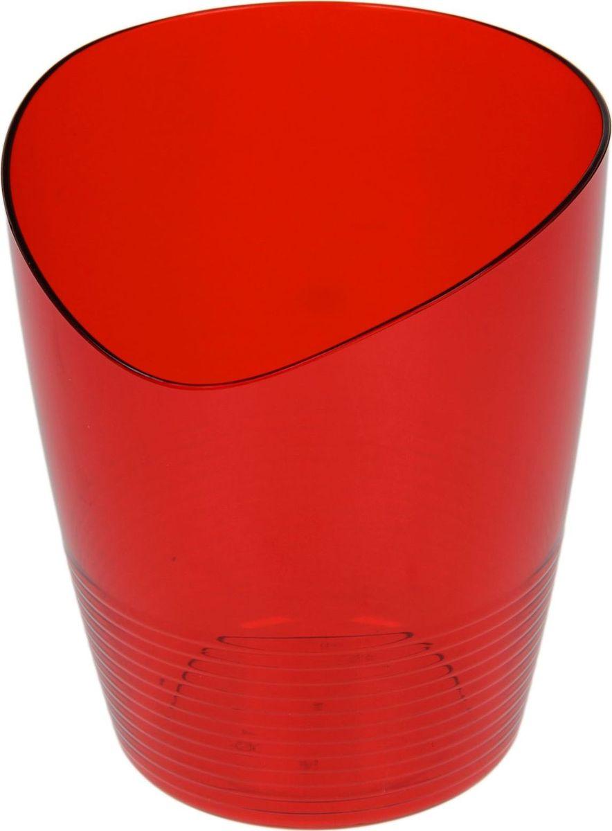 Кашпо Berossi Mia, для орхидеи, цвет: красный, 0,8 л1407044