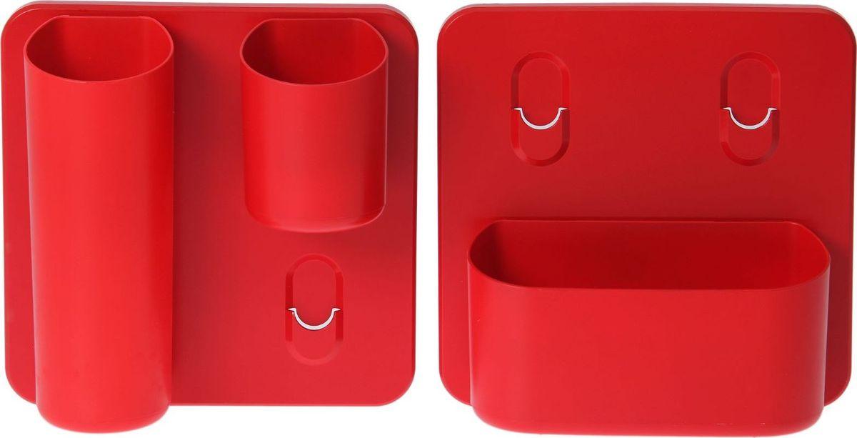 Набор кашпо WallGarden Фитомодуль. Стандарт, настенное, со съемными кашпо, цвет: красный, 5 предметов531-105Фитомодуль — новинка в области вертикального озеленения. Конструкция, как и сборка, предельно проста. Повесьте панель фитомодуля на стену, вставьте кашпо в специальные пазы и готово!Он экономит пространство, презентабельно выглядит и органично дополнит релакс-зону в офисе или дома.При желании вы легко измените композицию, перемещая кашпо или меняя цветы. Разместите в фитомодуле искусственные растения или создайте интерьерную композицию, используя, например, яркие карандаши, фломастеры, игрушки, на что хватит фантазии. Родители маленьких детей оценят, что конструкцию можно разместить высоко, и малыши не смогут «исследовать» её.Станьте флористом, сотворите уникальную композицию!