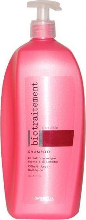 Brelil Bio Traitement Colour Shampoo Шампунь для окрашенных волос 1000 млFS-00897Brelil Bio Traitement Colour Shampoo Шампунь для окрашенных волос создан на основе специальной формулы, содержащей в составе экстракт лимона на термальной воде и биологическое аргановое масло. Шампунь Брелил бережно и эффективно очищает волосы от различных загрязнений и пыли, при этом защищает волосы от статического электричества, вредных воздействий окружающей среды и ультрафиолетовых лучей. Шампунь придаёт окрашенным или мелированным волосам замечательный блеск, обеспечивает сохранение интенсивности цвета на длительное время, делает волосы мягкими и послушными.