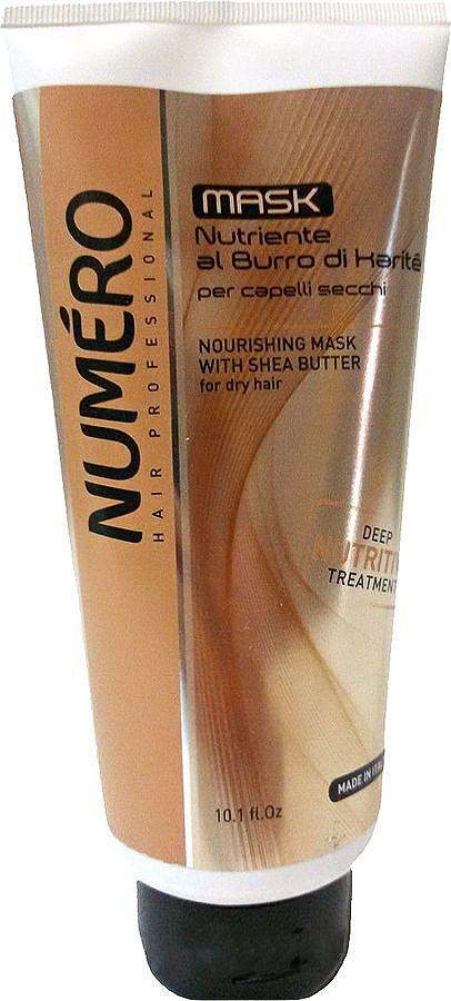 Brelil Numero Shea Butter Маска с маслом карите для сухих волос 300 млB080089Интенсивно питающая маска для сухих, тусклых волос. Проникает и увлажняет волос изнутри, не утяжеляя его. Наполняет блеском и сиянием.