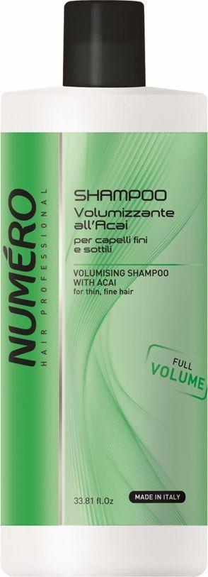Brelil Numero Volume Шампунь для придания объема с экстрактом ягод асаи 1000 млMP59.4DШампунь, придающий объём тонким и ослабленным волосам, защищает хрупкую структуру волос, наполняя жизненной силой и не утяжеляя их.