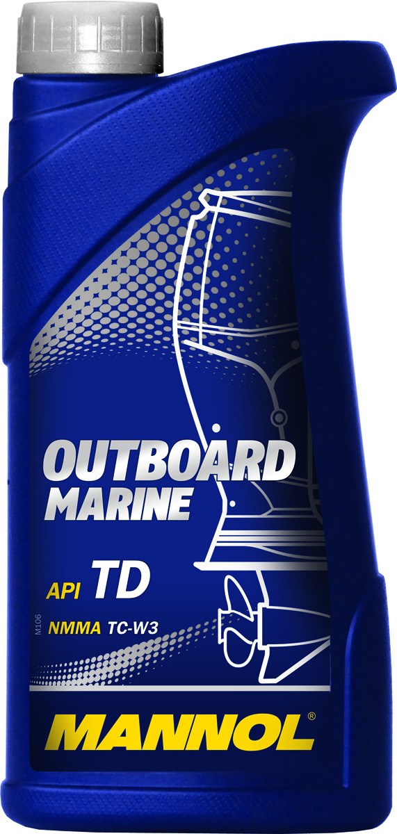 Моторное масло MANNOL Outboard Marine, 1 л моторное масло motul outboard 2t 1 л